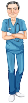 Uśmiechnięty mężczyzna lekarz