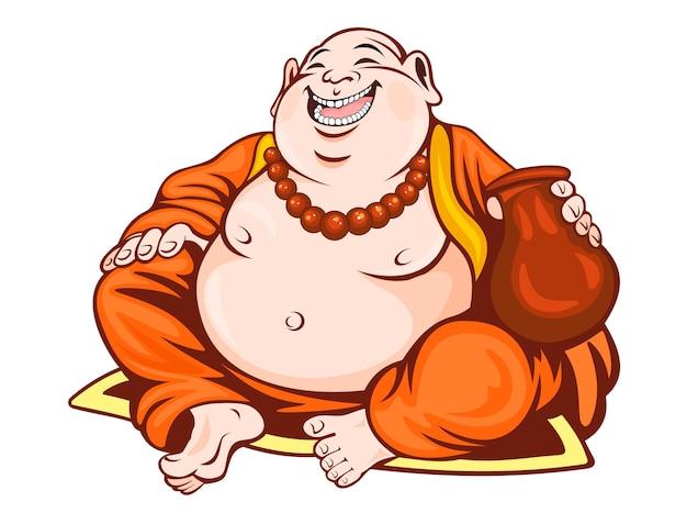 Uśmiechnięty mnich