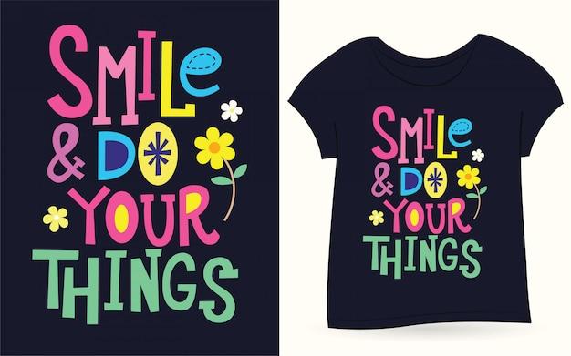 Uśmiechnij się i zrób swoje rzeczy typografią