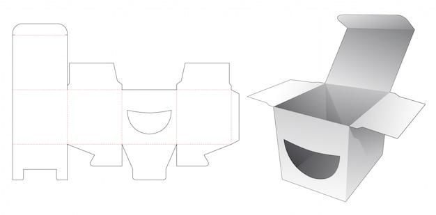 Uśmiechnij się kwadratowy szablon wykrojnik