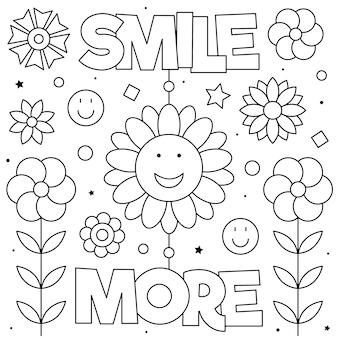Uśmiechnij się więcej kolorowanka
