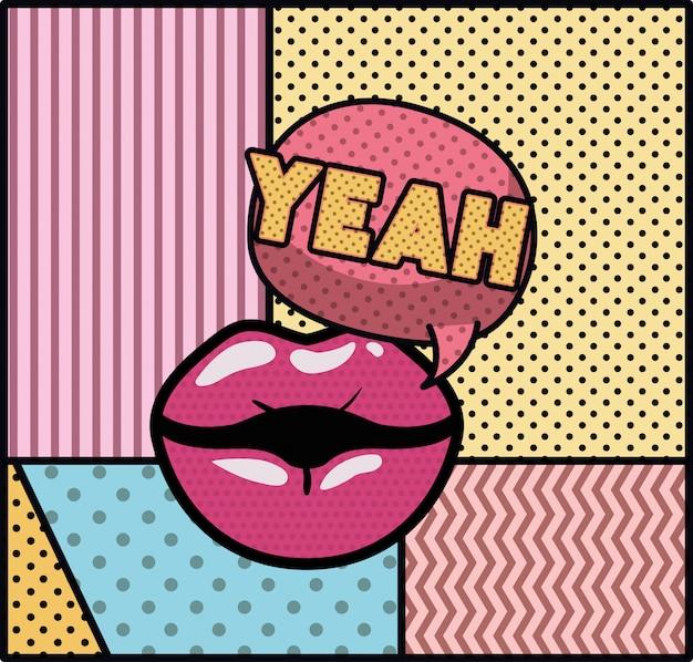Usta mówiące o stylu pop artu