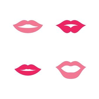Usta Uśmiech Czerwony Sexy Kobieta Usta Ilustracja Projekt Premium Wektorów