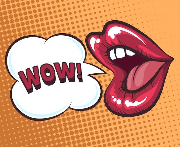 Usta z bąblu do mówienia