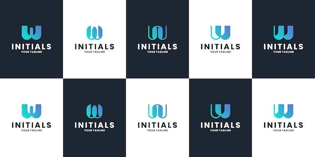 Ustaw abstrakcyjny początkowy symbol projektu logo w