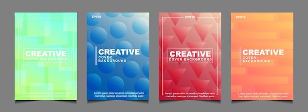 Ustaw abstrakcyjny projekt okładki w kolorze gradientu