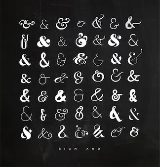 Ustaw ampersandy dla kredy literowej