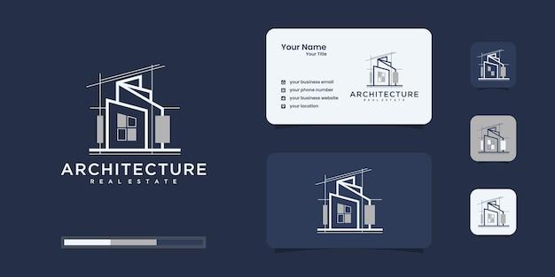 Ustaw architekturę logo z inspiracją do projektowania logo koncepcji linii