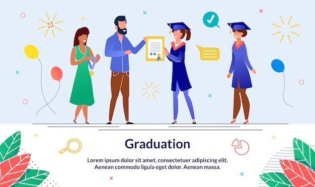 Ustaw baner absolwent na uniwersytecie