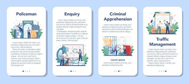 Ustaw baner aplikacji mobilnej policjanta