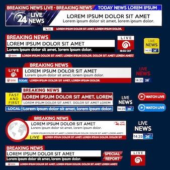 Ustaw baner dla szablonu breaking news dla telewizora ekranowego