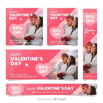 Ustaw baner fotograficzny valentine sprzedaży