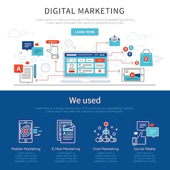 Ustaw baner marketingu cyfrowego
