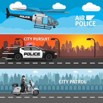 Ustaw baner płaski policji