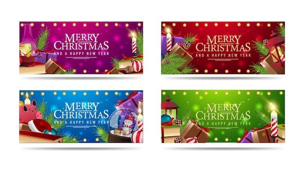 Ustaw baner pozdrowienia świąteczne