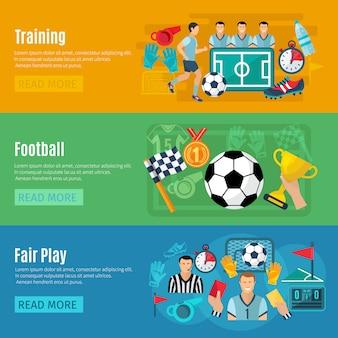 Ustaw baner poziomy piłki nożnej