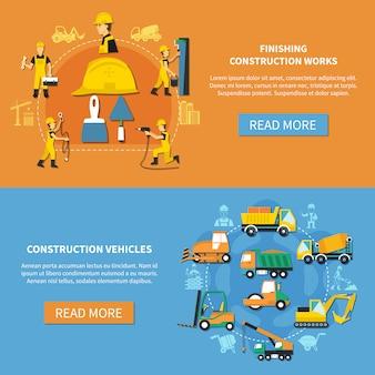 Ustaw baner pracownik budowlany