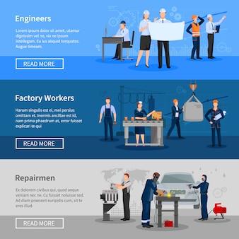 Ustaw baner pracowników fabryki