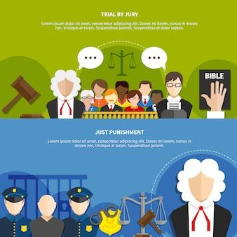 Ustaw baner prawa płaskiego