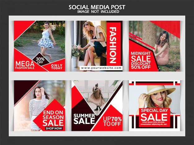 Ustaw baner sprzedaż moda dla postu w mediach społecznościowych