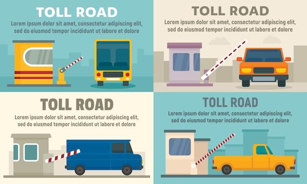 Ustaw baner stacji płatnych dróg