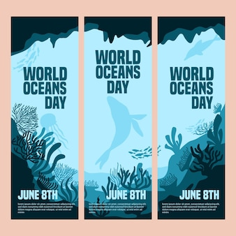 Ustaw baner światowy dzień oceanów