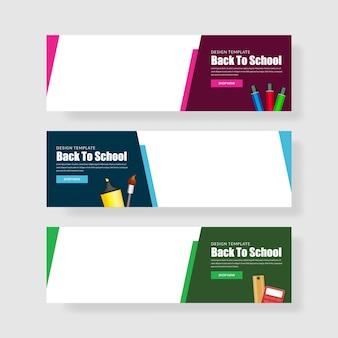 Ustaw baner z powrotem do szkoły