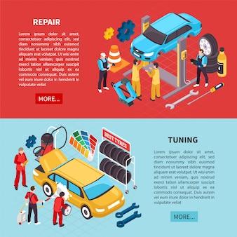Ustaw banery auto service