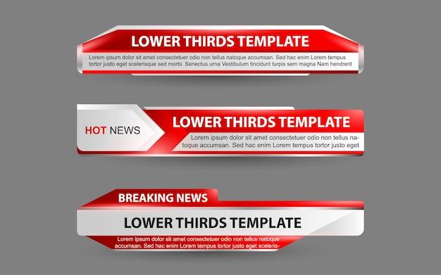 Ustaw banery i dolne trzecie dla kanału informacyjnego w kolorze białym i czerwonym