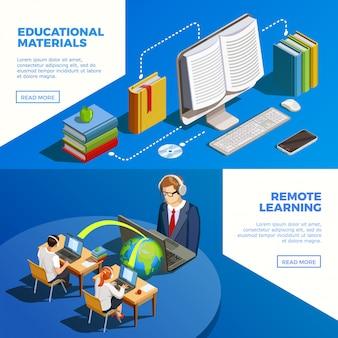 Ustaw banery nauczania na odległość