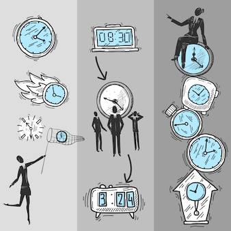 Ustaw banery zegara