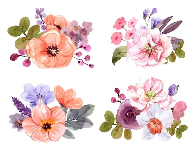 Ustaw bukiet kwiatów w lecie