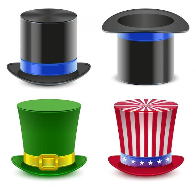 Ustaw cylinder magika kapelusza