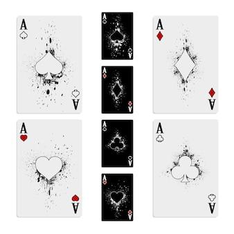 Ustaw cztery talie kart