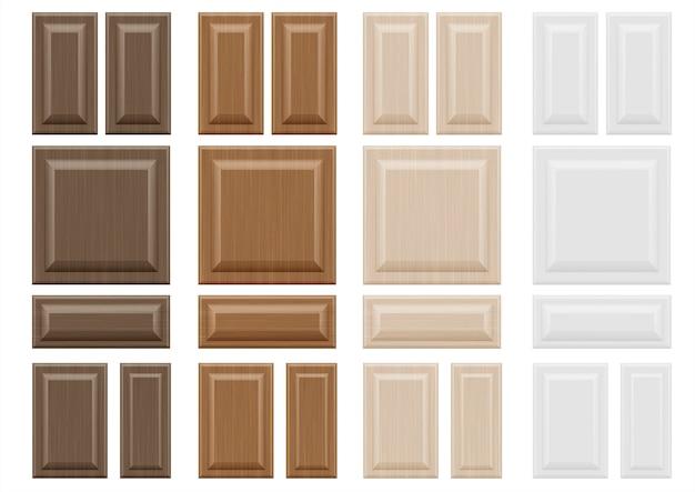 Ustaw fasady mebli drewnianych