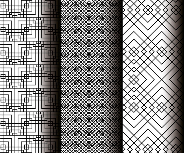 Ustaw figury geometryczne w szare wzory bez szwu
