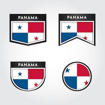 Ustaw flagę etykiety panamy