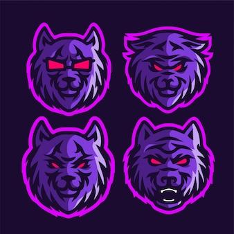 Ustaw głowę fioletowego wilka