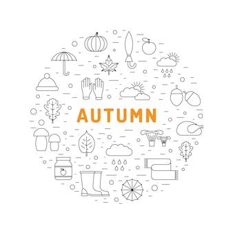 Ustaw ikonę jesieni