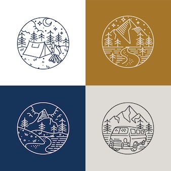 Ustaw ikonę liear i logo góry