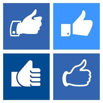 Ustaw ikony na niebieskich kwadratach
