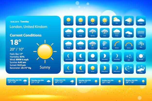 Ustaw ikony pogody