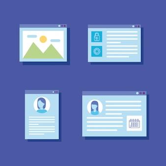 Ustaw ikony szablonów stron internetowych