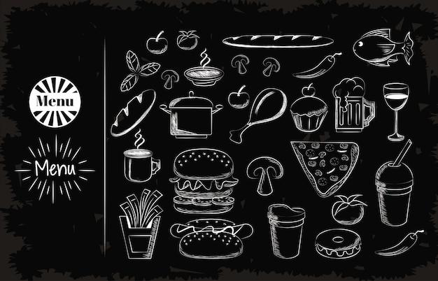 Ustaw ikony żywności