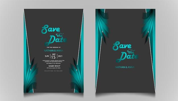 Ustaw kolekcję elegancką zapisz datę zaproszenia na ślub