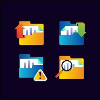 Ustaw kolekcję ikony pracy folderu dokumentów