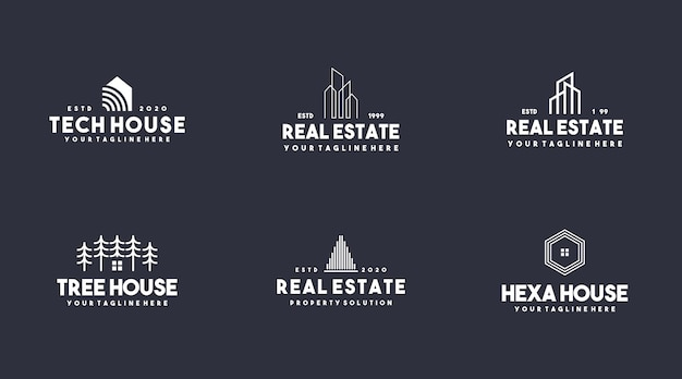 Ustaw kolekcję logo nieruchomości