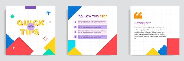 Ustaw kolorowy samouczek w mediach społecznościowych, porady, sztuczki, czy znasz szablon postu z banerem