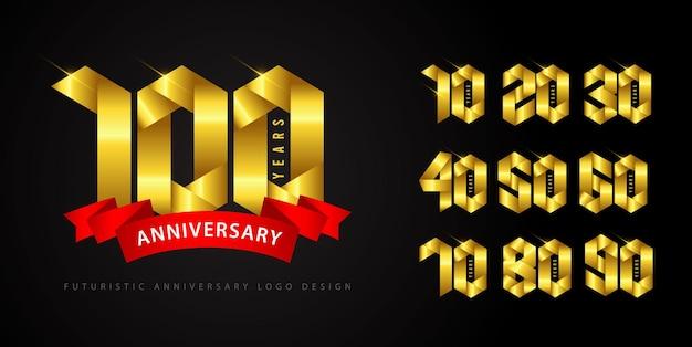 Ustaw koncepcję logo rocznicy.