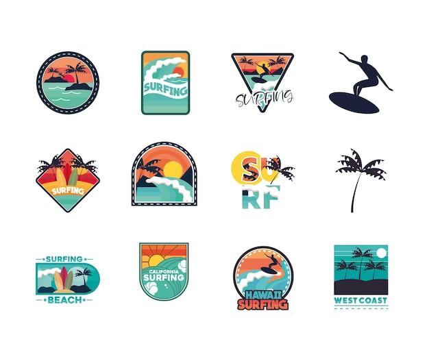 Ustaw łaty do surfowania